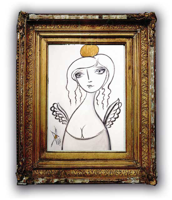 Art Angel by Beti Kristof, Framed