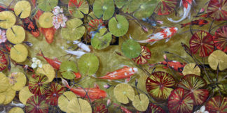 Zen Pond painting by artist Beti Kristof