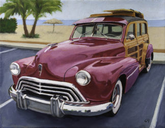 '47 Olds Woodie painting by Raphael Schnepf