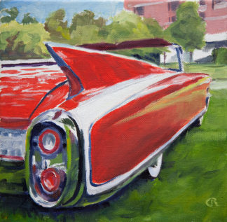 Fin Cadillac painting by Raphael Schnepf
