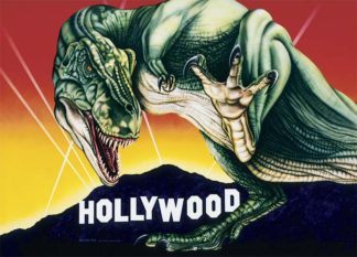 T-Rex - Hollywood Video mural by A.D. Cook