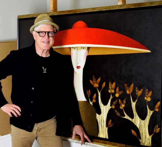 Artworks Danny McBride with painting