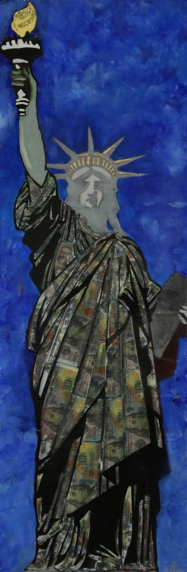 statue of liberty canvas painting by Scott Travis