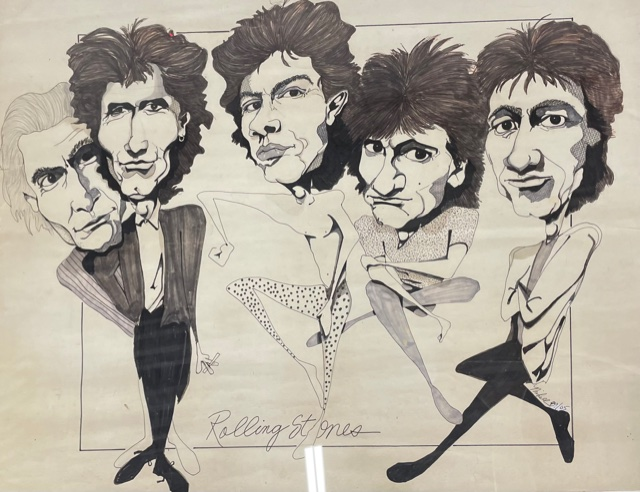 """Paper Artwork """"Rolling Stones"""" by Keith Mikell"""