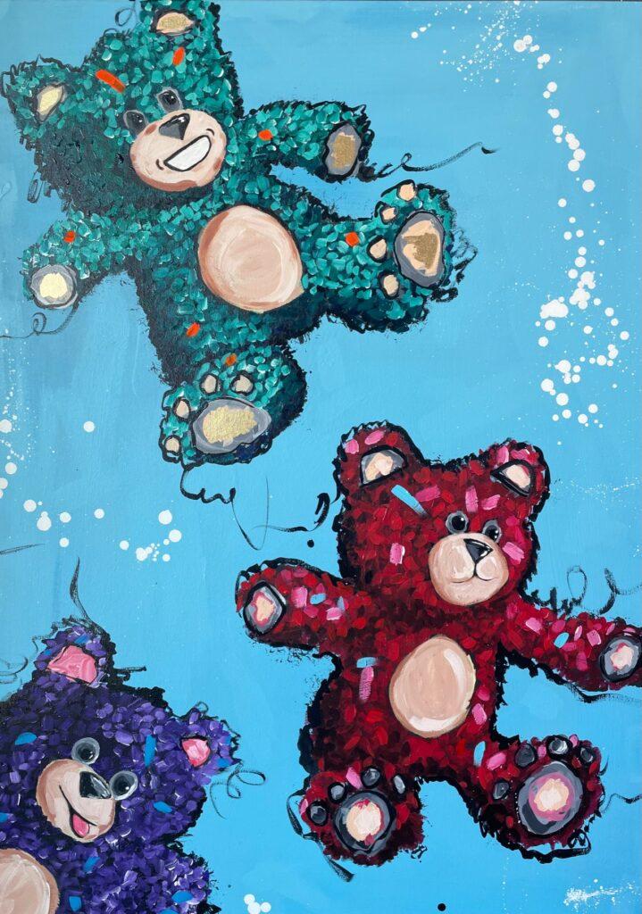 Teddy Friends artwork by Rocky Asbury