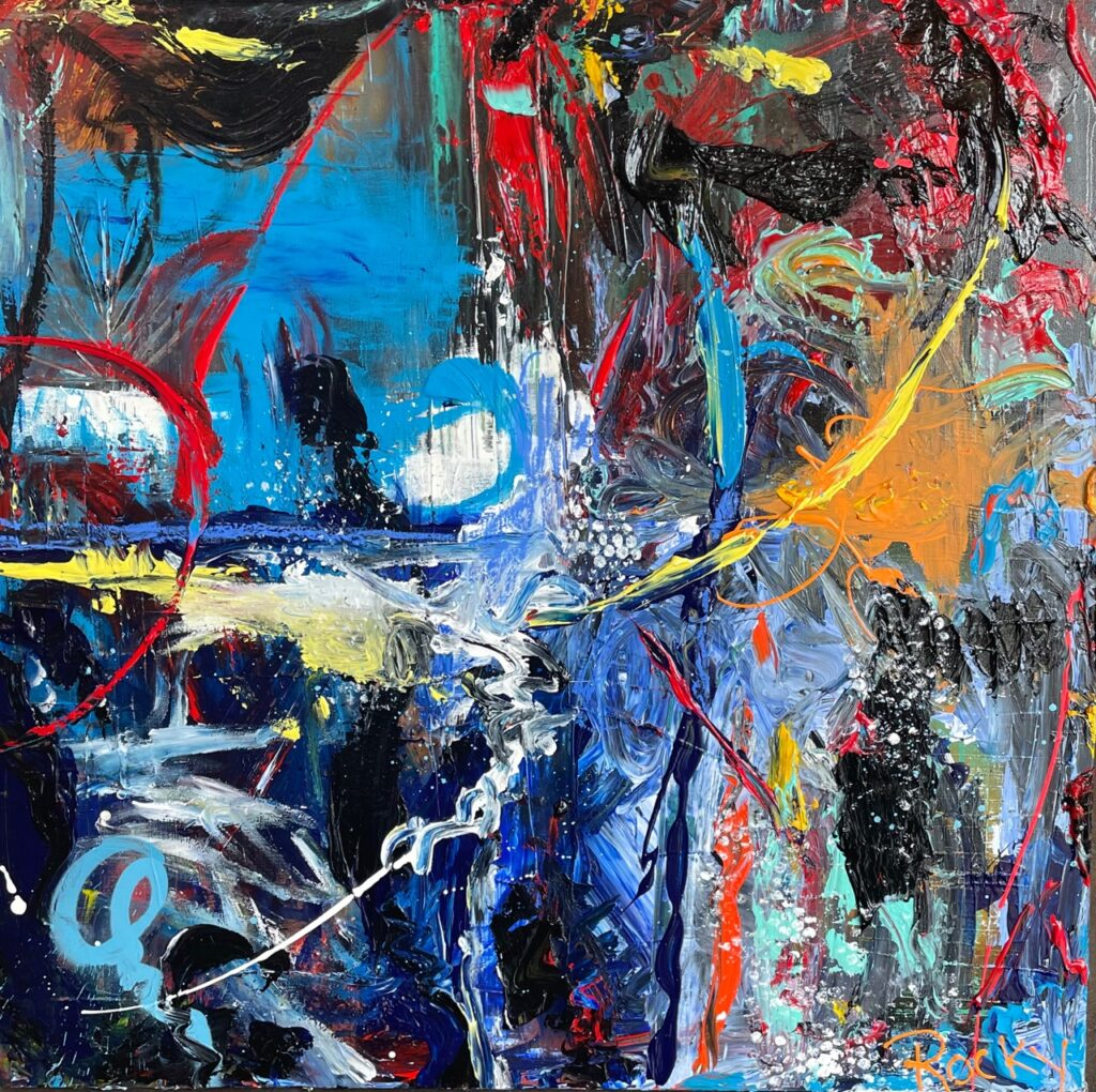 """""""Abstract 101"""" artwork by Rocky Asbury-abstract oil painting on canvas"""