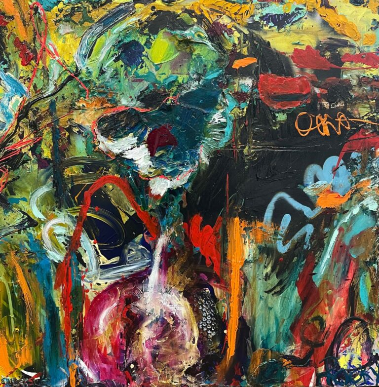 """""""Abstract 36"""" artwork by Rocky Asbury-modern art oil painting on canvas"""