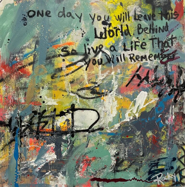 One Day by Rocky Asbury, acrylic painting on canvas